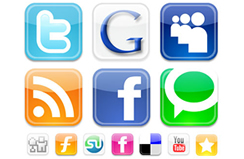 social networks such as facebook, twitter, youtube